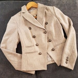 Banana Republic gray cutaway military-style blazer